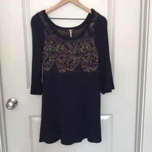 Free People; Bell Sleeved Knit Sweater Dress